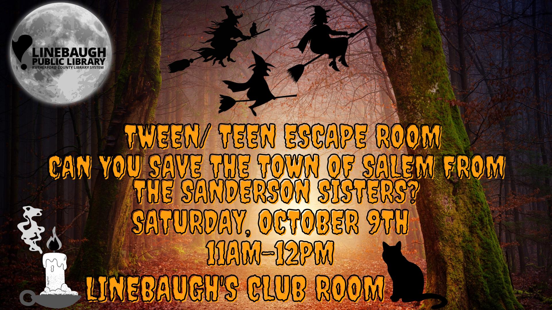 Tween & Teen Escape Room