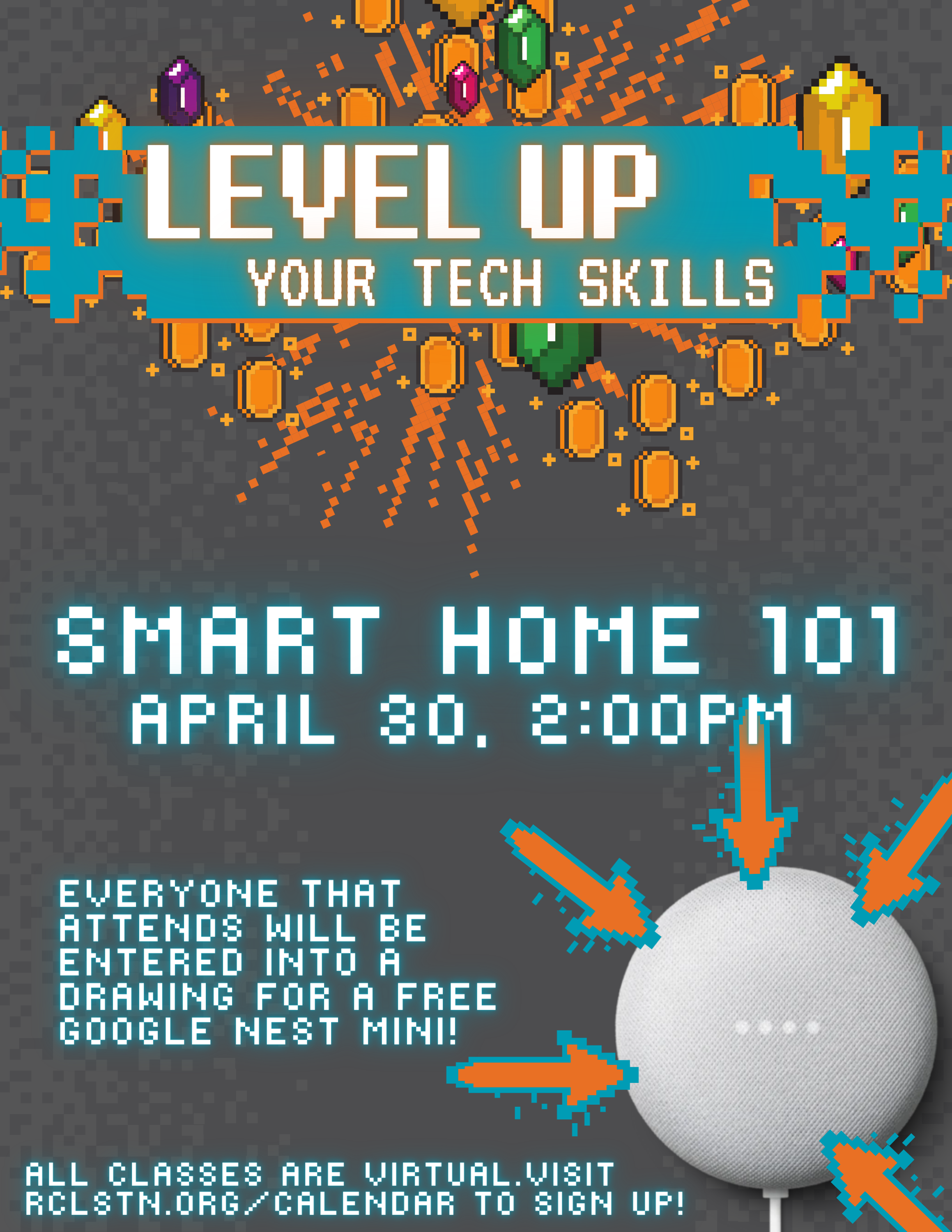 Level Up! Smart Home 101 with Google Nest Mini Drawing!
