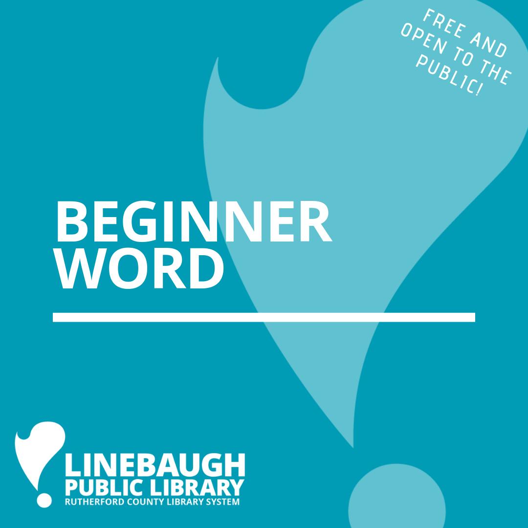 Beginner Word