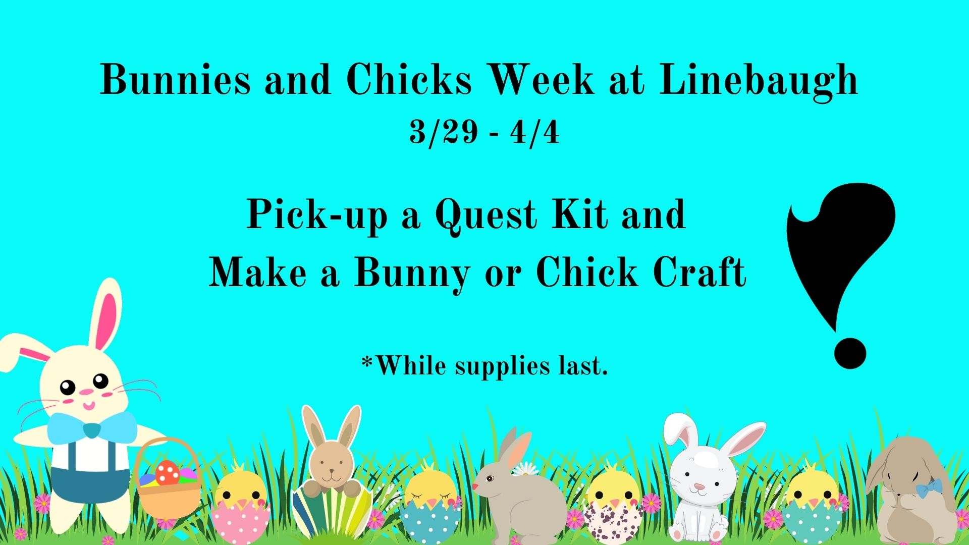 Bunnies and Chicks Week at Linebaugh