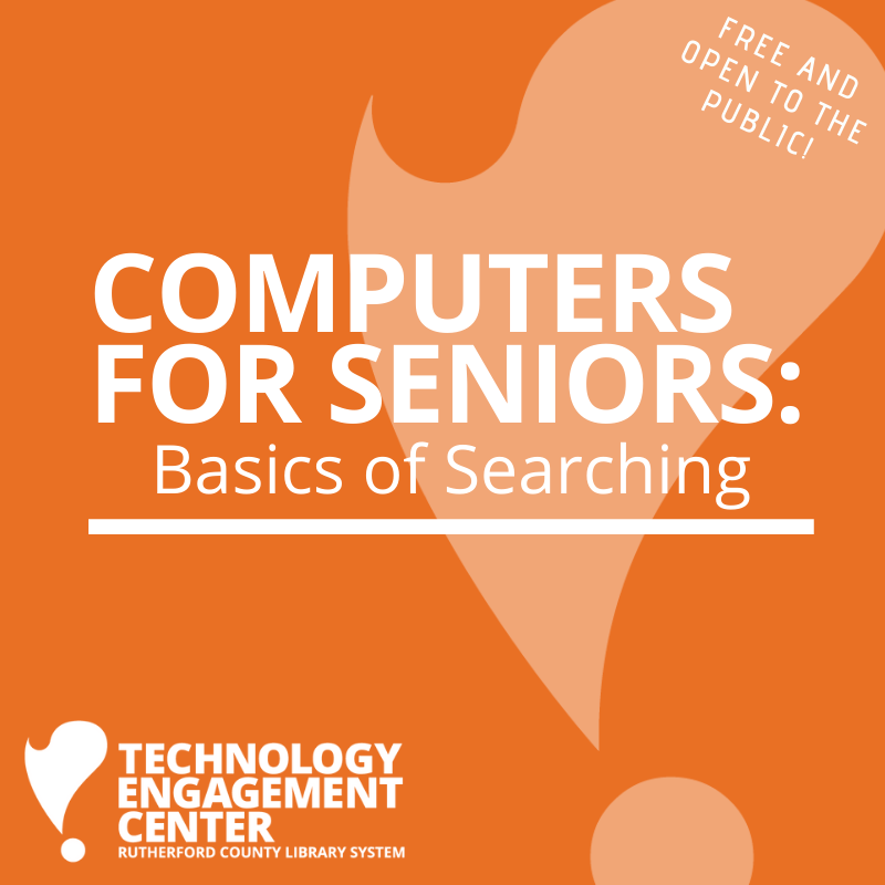 Computers for Seniors: Basics of Searching @ TEC