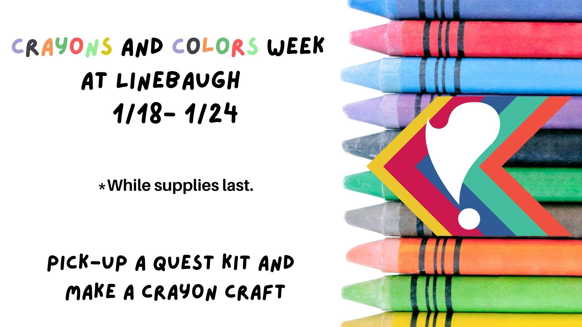 Crayons and Colors Week at Linebaugh