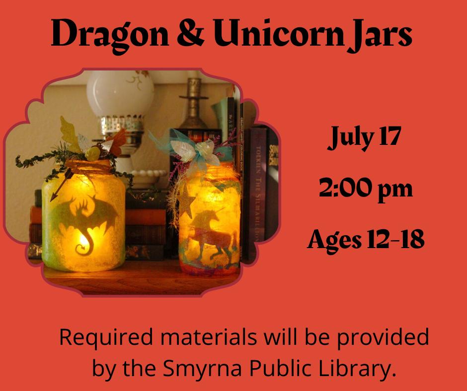 Tween & Teen Dragon & Unicorn Jars