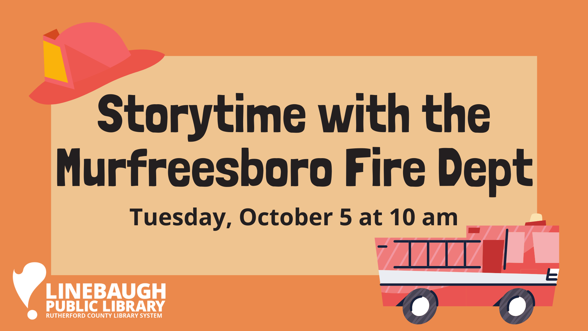 Storytime at Linebaugh with the Murfreesboro Fire Dept