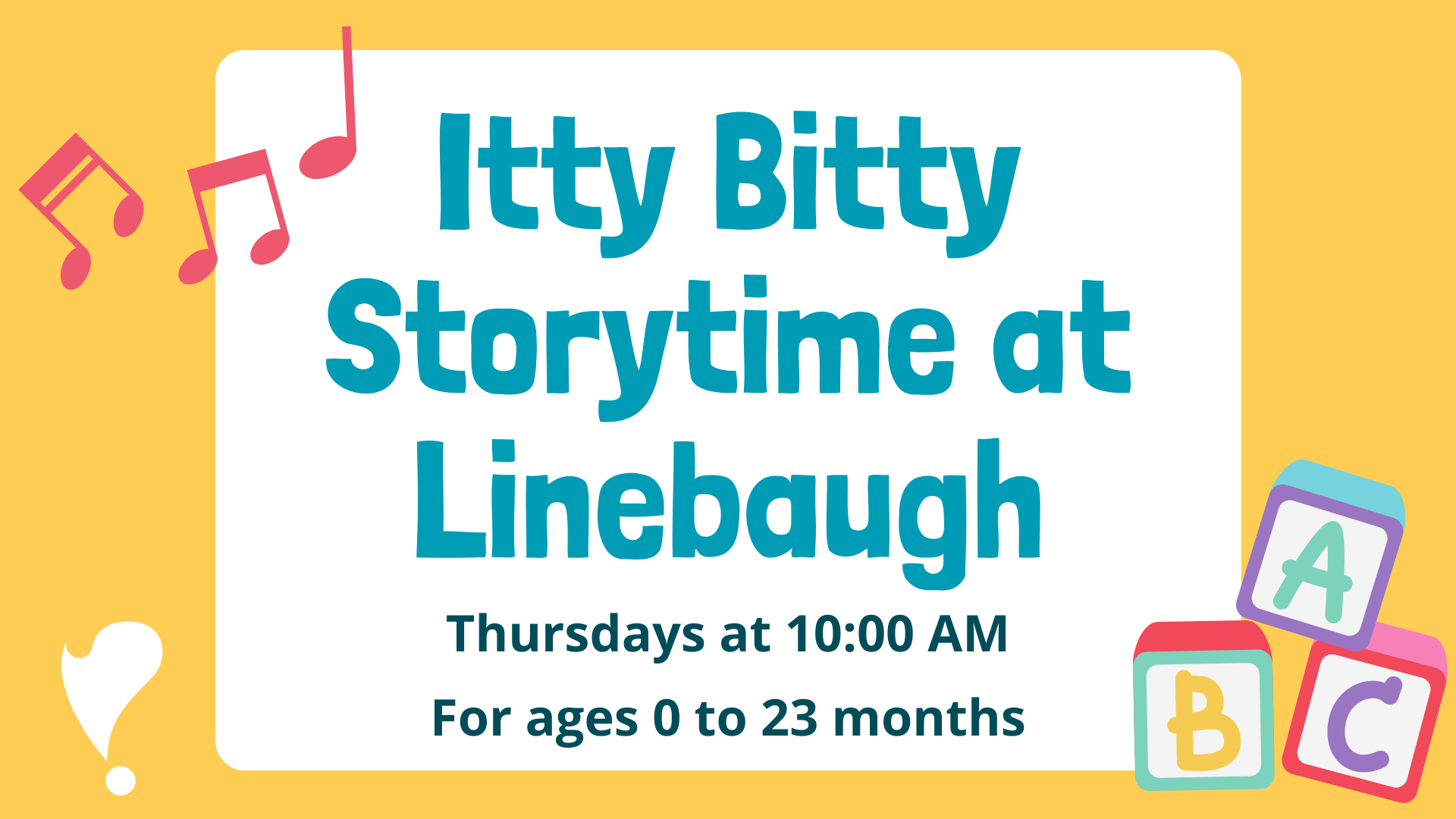 Itty Bitty Storytime at Linebaugh