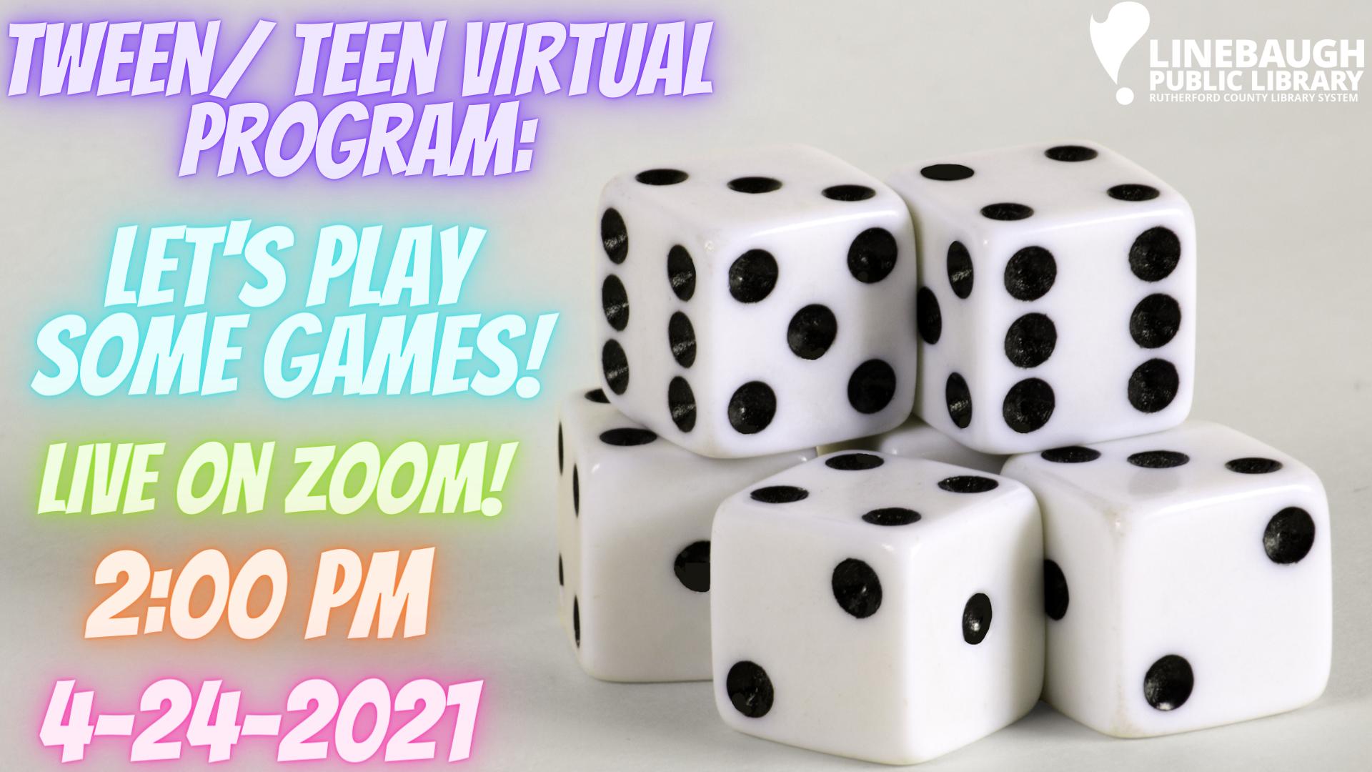 Tween/ Teen Virtual Program