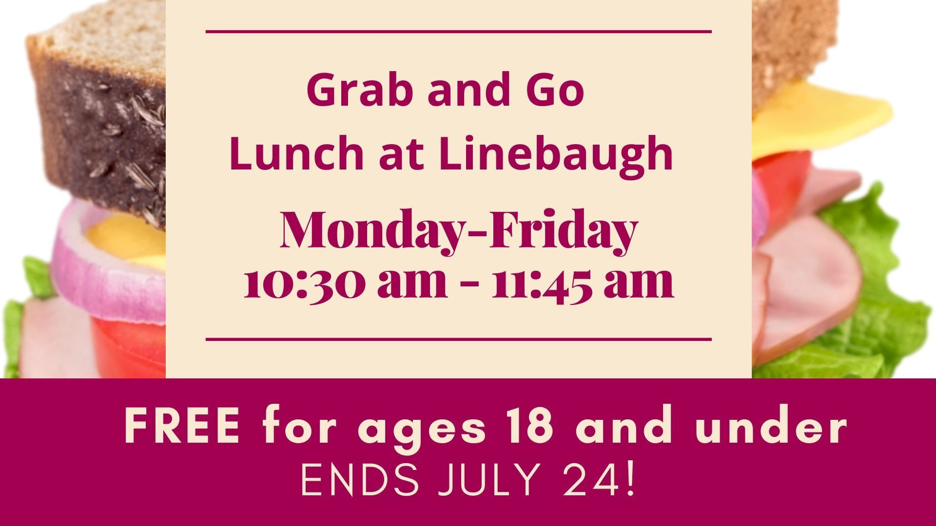 Grab-and-Go Lunch at Linebaugh
