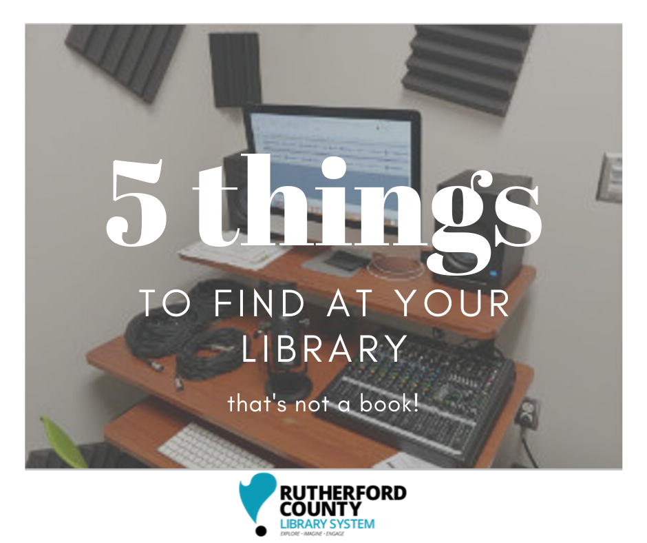 Five things to find at your library that