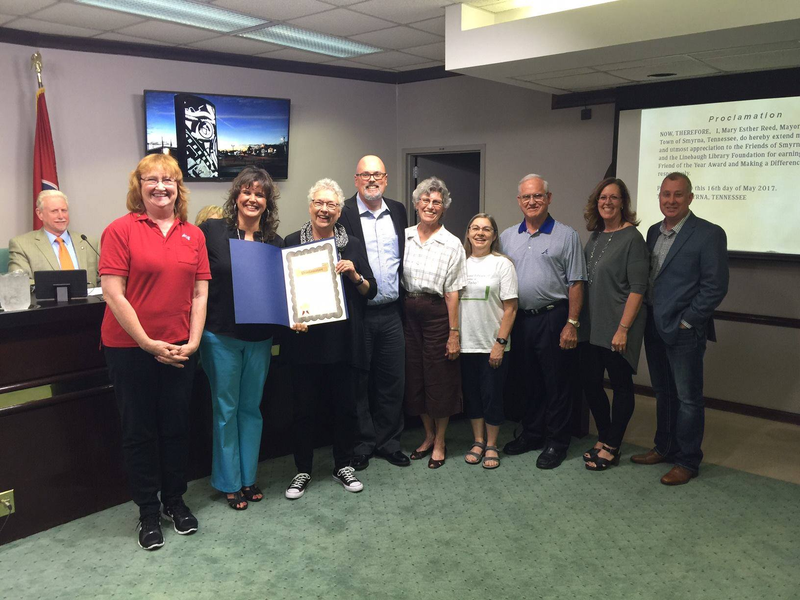 Special Recognition by Town of Smyrna