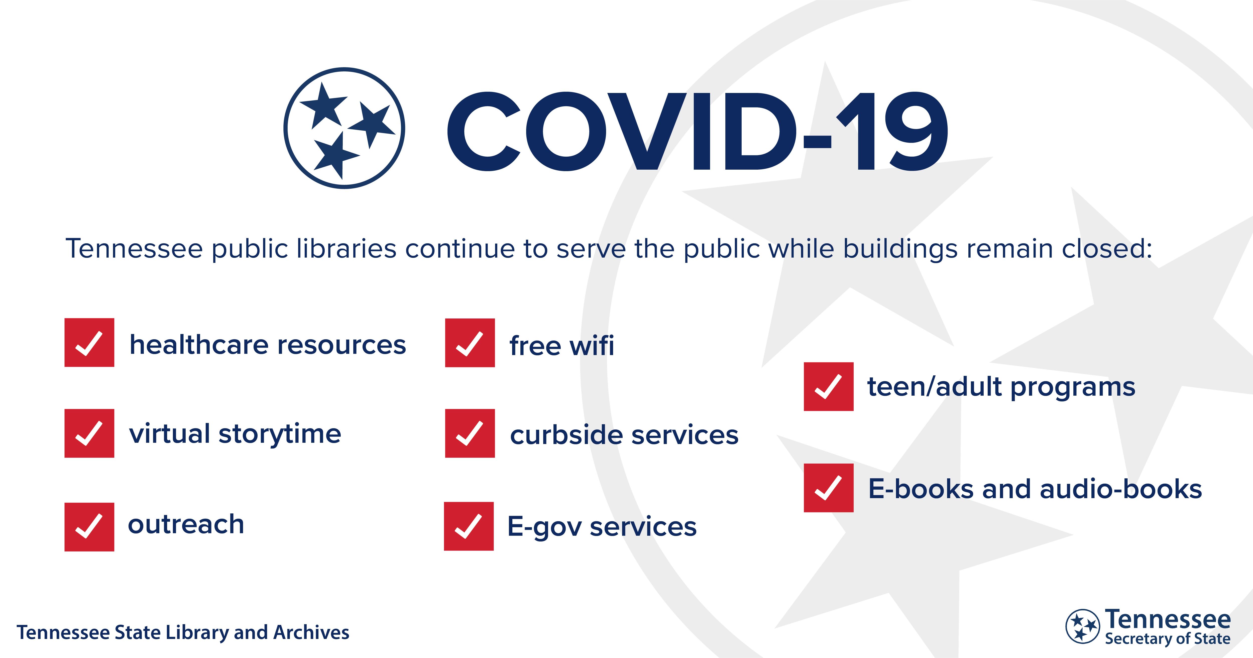 TN Public Libraries Continue to Serve Despite Closures