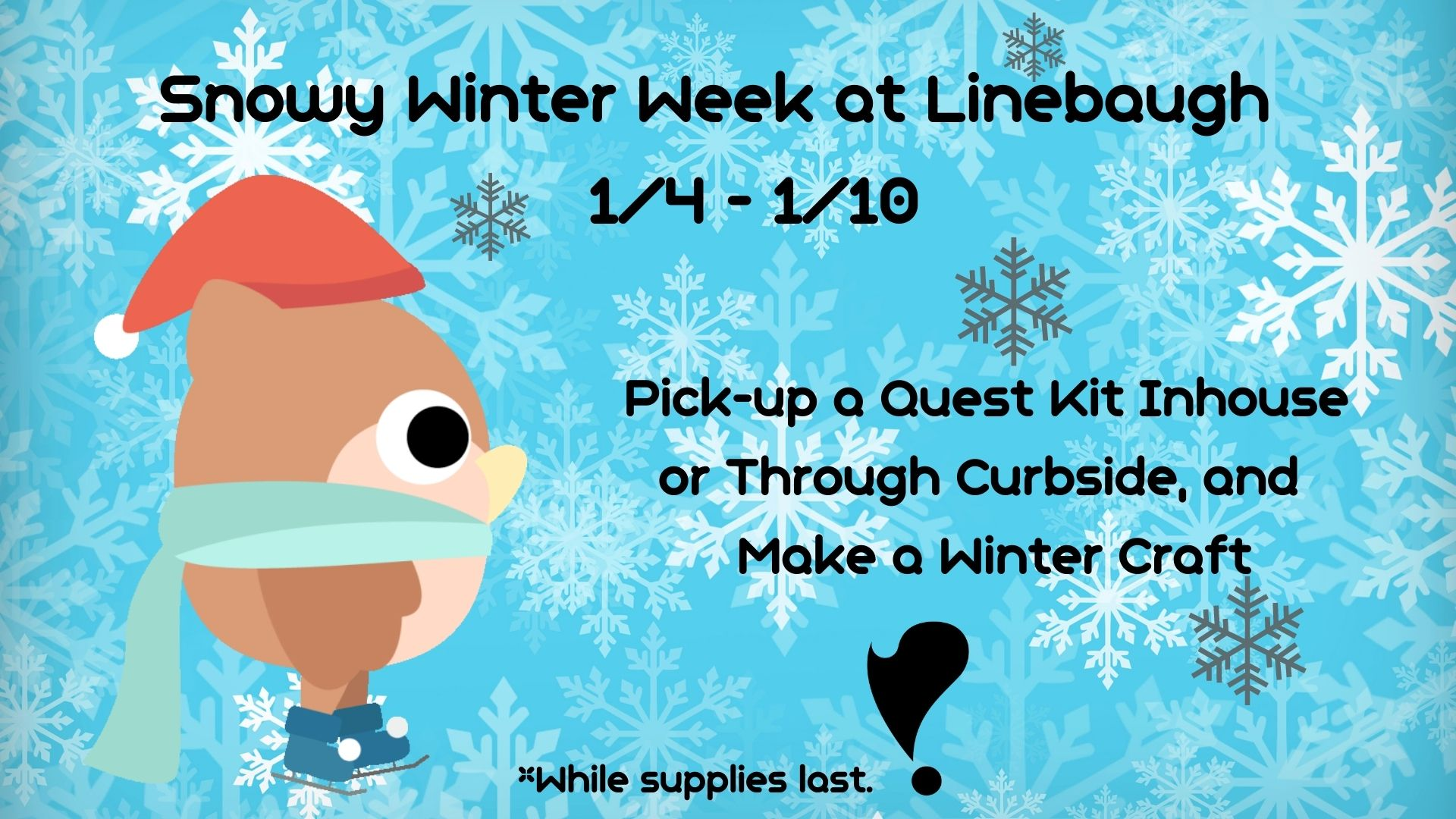 Snowy Winter Quest Kits at Linebaugh
