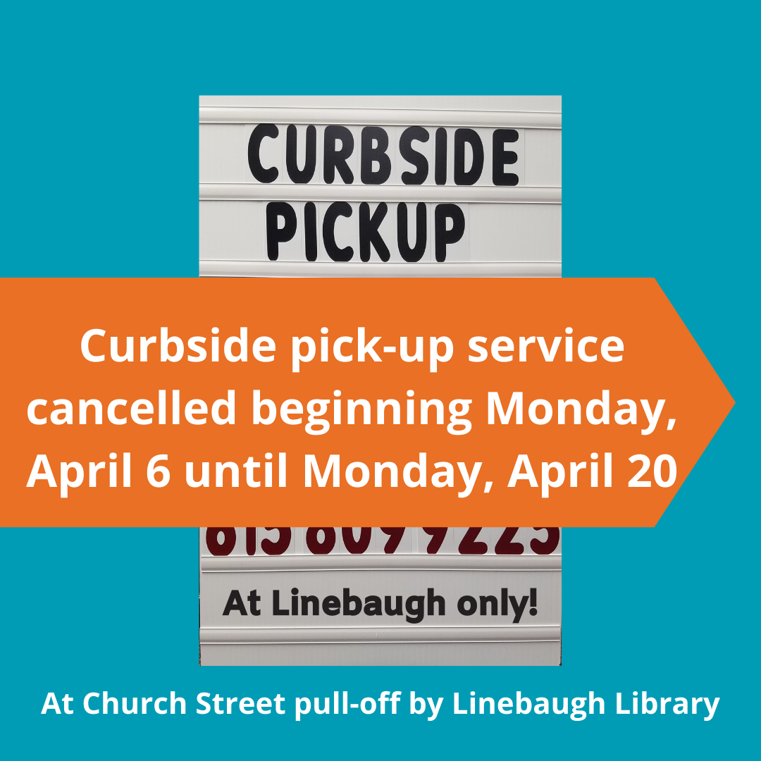 RCLS Remains Closed through April 25:Pause in Curbside Service