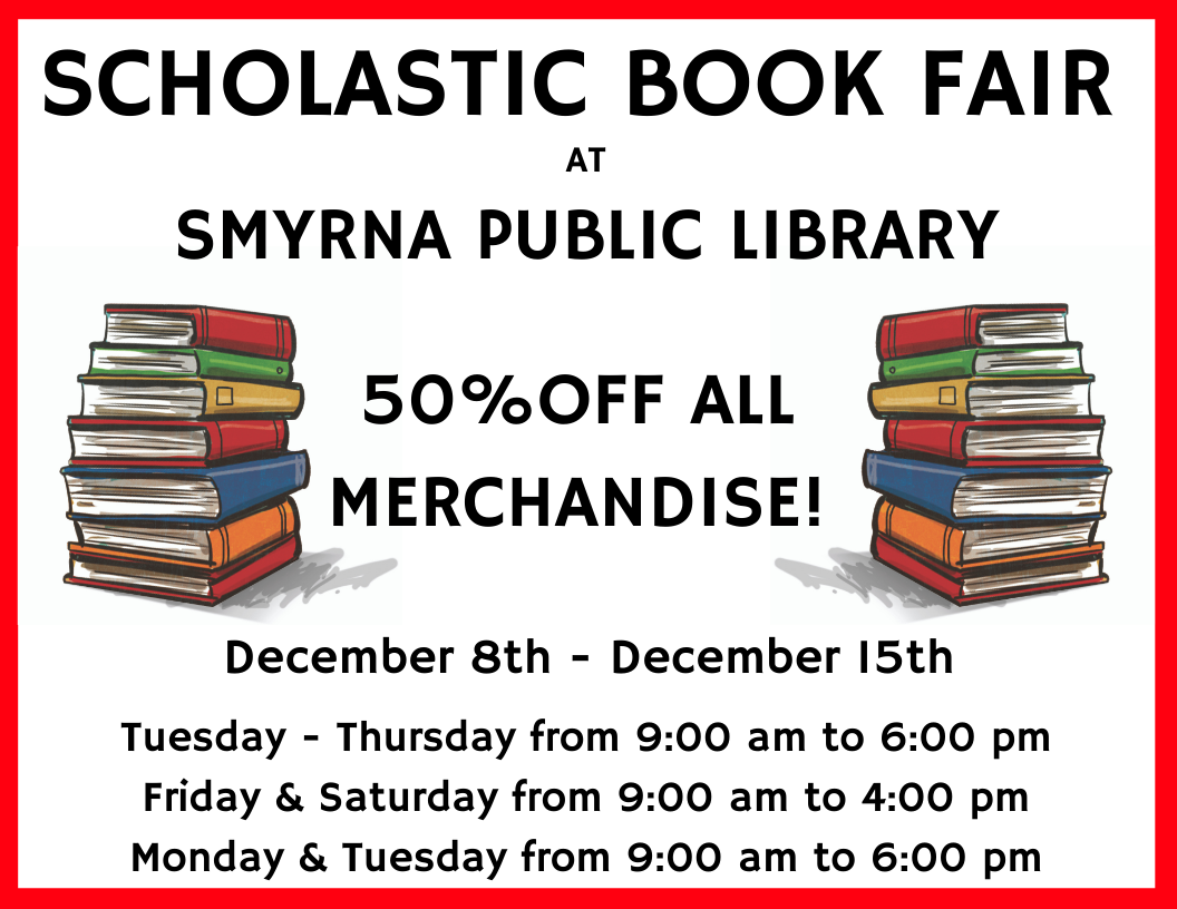 Scholastic Book Fair at Smyrna Public Library
