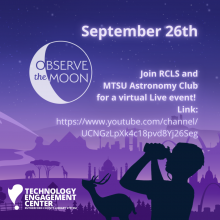 Virtual observe the moon night on September 26
