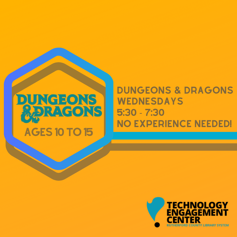 Teens event, D&D weekly meeting
